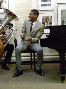 Jon Batiste at the National Jazz Museum in Harlem